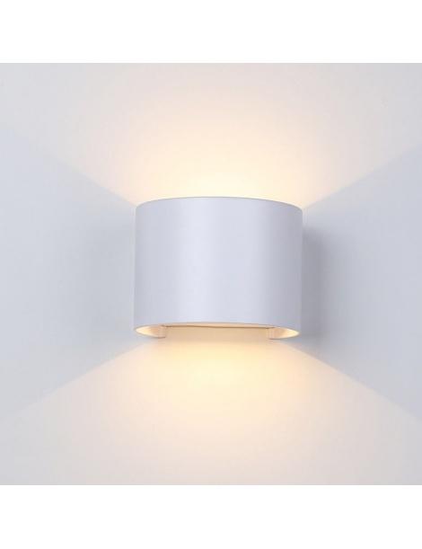 Applique parete 12w IP55 curvo bianco luce led regolabile 6500k 3000k UP & DOWN