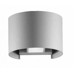 Applique parete 12w IP55 curvo grigio luce led regolabile 6500k 3000k UP & DOWN