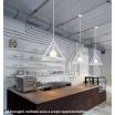 Lampadario sospensione triangolo E27 pendente moderno bianco nero tridimensionale
