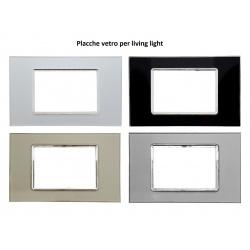 Placche vetro compatibile bticino living light placca per supporti moduli LN4703