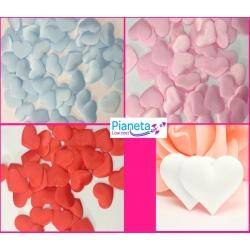 50 cuori stoffa vari colori cuoricini decoupage decorazione
