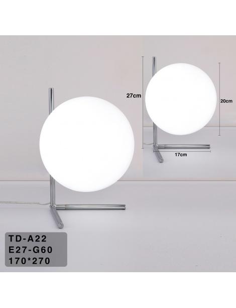 Lampada scrivania ramo con sfera E27 oro argento luce tavolo moderno minimal led