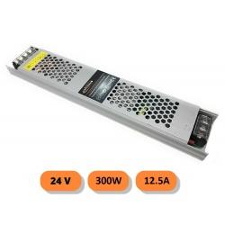 Alimentatore stabilizzato slim 24v 12.5A 300W trasformatore professionale switch