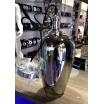 Lampadario sospensione E27 portalampada moderno in vetro laccato argento minimal