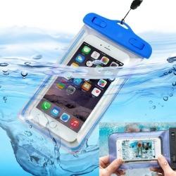 Custodia cover subacquea impermeabile universale ermetica smartphone cellulare trasparente