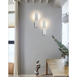 Applique parete bianco10w moderno lampada muro luce fredda 6500k o calda 3000k