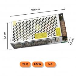 Trasformatore 24V 5A 120w 220V alimentatore striscia led universale stabilizzato