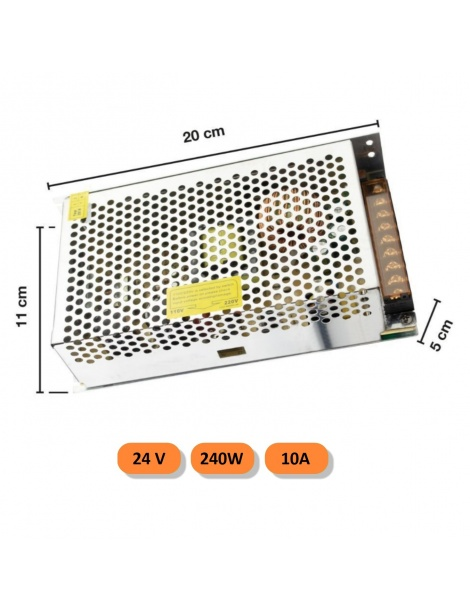 Trasformatore 24V 10A 120w 240V alimentatore strip led universale stabilizzato