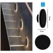 Applique a parete led 12w cerchio nero lampada alluminio luce per esterno tondo