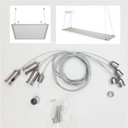 Filo cavo acciaio per sospensione plafoniera lampadario pannello sospeso