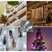 Catena luci natale 180 led serie luminosa natalizie per esterno interno albero cavo trasparente
