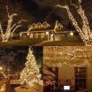 Catena luci natale 180 led serie luminosa natalizie per esterno interno albero cavo verde