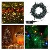 Catena luci natale 300 led serie luminosa natalizie per esterno interno albero cavo verde