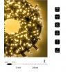 Catena luci natale 500 led serie luminosa natalizie per esterno interno albero cavo verde