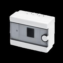 Quadro elettrico centralino 2-6 moduli DIN box superfice scatola IP40 interruttori