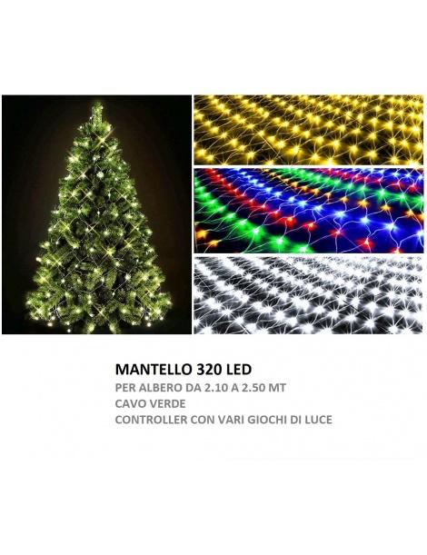 Albero Di Natale 5 Mt.Mantello Albero Di Natale 2 5 Mt Led Filo Verde Luce Bianco Freddo Multicolor