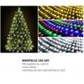 Mantello luci per albero di Natale 1,8m 192 led rete luminoso filo verde addobbo natalizio