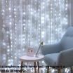 Tenda luminosa 8x1.2 mt 480 led luce di Natale effetto pioggia addobbi natalizie per esterno bianco caldo multicolore