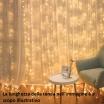 Tenda luminosa a pioggia 380 LED 5x0,70 mt Addobbo natale serie luci natalizie effetto cascata addobbo festa
