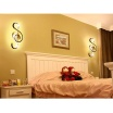 Applique led 14w chiave di violino lampada da parete nota musicale bianco stile moderno luce fredda naturale calda