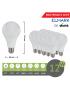 Promopack  x 10 pz lampadina led globo A60 E27 12w attacco grande sfera basso consumo luce fredda naturale calda
