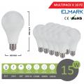 Promopack x 10 pz lampadina led globo A60 E27 15w attacco grande sfera basso consumo luce fredda naturale calda