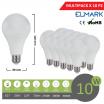 Promopack x 10 pz lampadina led globo A60 E27 10w attacco grande sfera basso consumo luce fredda naturale calda