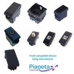 Frutti Compatibili Bticino Living INTERNATIONAL Light Interruttori Prese Pulsanti