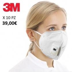 X10 o 25pz mascherine 3M certificate kn95 ffp2 con valvola maschera protezione viso