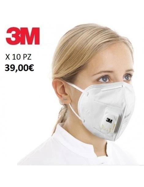 mascherine 3M certificate kn95 ffp2 con valvola maschera protezione viso