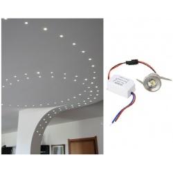 Punto luce led cob 1w argento tondo segnapasso mini faretto da incasso con driver lampadina 220V