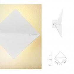 Applique da parete led 10w doppia luce quadrato bianco design moderno per interno geometrico comodino