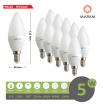 X10 lampadina led oliva E14 5w attacco piccolo opaco satinato luce calda Mapam