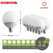 X10 Lampadina led E27 globo G95 12W attacco grande luce bianca naturale calda basso consumo Mapam