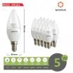 X10 Lampadina led 5w E14 oliva trasparente attacco piccolo luce bianco naturale calda Mapam