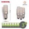 X5 Lampadina led 3w E14 per frigo frigorifero cappa attacco piccolo luce naturale 220V Mapam