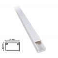 2 mt Canalina per cavi elettrica 20x10 mm in plastica passacavi bianco coprifili a parete con copertura