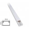 2 mt Canalina per cavi elettrica 60x40 mm in plastica passacavi bianco coprifili a parete con copertura