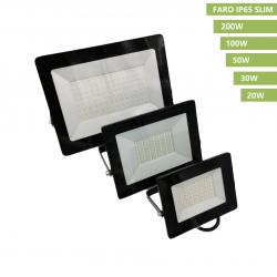 Faro proiettore led nero slim da esterno interno luce bianco per illuminazione giardino impermeabile IP65