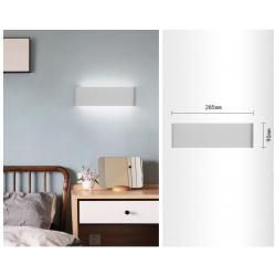 Applique da parete led doppia emissione di luce lampada a muro bianco rettangolare design moderno per camera soggiorno bagno