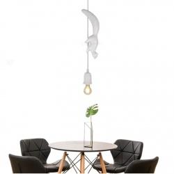 Lampadario con scoiattolo sospeso bianco luce led attacco E27 portalampada decorativo animali design moderno per camera salotto