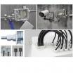 Pressacavo impermeabile IP55 presa per cavi elettrici in plastica connettore raccordi bianco antistrappo esterno
