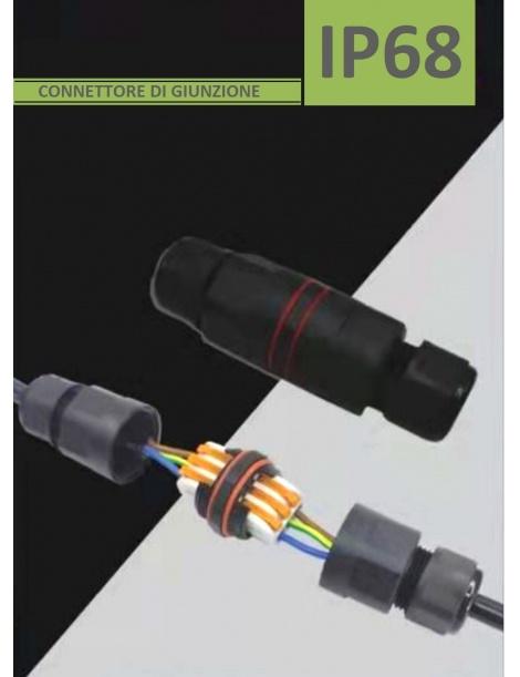Scatola elettrica di giunzione stagna per esterno connettore cavi terminali impermeabile IP68