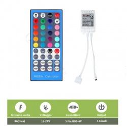 Telecomando controller per striscia led RGBW WW CW 5 pin strip multicolore 12 24V dimmerabile smd 5050 40 tasti