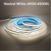 Striscia led cob 12V 40w 5 metri strip alta luminosità dimmerabile adesiva luce bianco caldo naturale blu