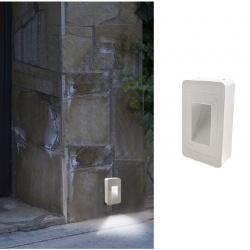 Segnapasso led cob 12w quadrato bianco faretto da esterno a parete IP65 per giardino scale luce bianca naturale calda