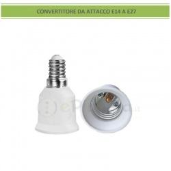 Adattatore convertitore da attacco piccolo E14 a piccolo E27 portalampada riduttore bianco 220V per lampadina