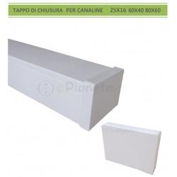 Tappo di chiusura terminale per canaline elettriche passacavi coprifili bianco in PVC