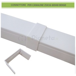 Connettore giunto per canaline elettriche passacavi coprifili bianco giunzione collegamento in PVC