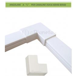 Angolo connettore angolare a L per canaline elettriche passacavi coprifili bianco giunzione collegamento in PVC